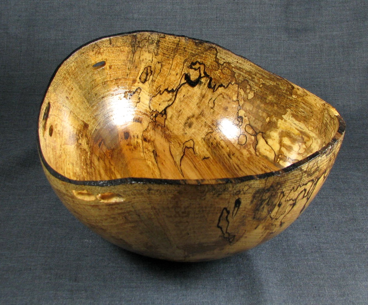 Natural Edge Spalted Pecan bowl